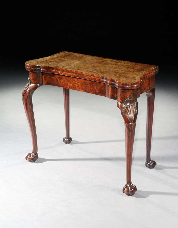 A CARD TABLE FROM THE PERCIVAL D. GRIFFITHS COLLECTION